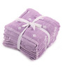 Lushomes Purple Cotton 12 x 12 Face Towel - Set of 8