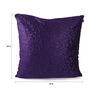 Lushomes Purple Polyester 24 x 24 Inch Embossed Blackberry Cushion Cover - Set of 2