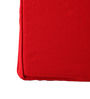 Lushomes Red Cotton & Foam 16 x 16 Inch Half Panama Chair Pads - Set of 2