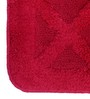 Lushomes Red Cotton 20 x 32 Bath Mat