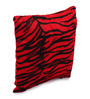 Lushomes Red Polyester 12 x 12 Inch Tiger Skin Printed Cushion Covers - Set of 2