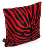 Lushomes Red Polyester 12 x 12 Inch Zebra Skin Printed Cushion Covers - Set of 3