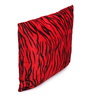 Lushomes Red Polyester 16 x 16 Inch Tiger Skin Printed Cushion Covers - Set of 5