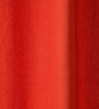 Lushomes Red Wood Cotton 60 x 54 Inch Plain Windows Curtain with 8 Eyelets & Plain Tiebacks - Set of 2
