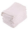 Lushomes White Cotton 12 x 12 Face Towel - Set of 6