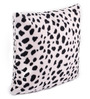 Lushomes White Polyester 12 x 12 Inch Leopard Skin Printed Cushion Covers - Set of 2