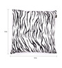 Lushomes White Polyester 12 x 12 Inch Tiger Skin Printed Cushion Covers - Set of 2