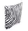 Lushomes White Polyester 16 x 16 Inch Zebra Skin Printed Cushion Covers - Set of 5