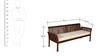 Lytton Three Seater Sofa in Provincial Teak Finish by Amberville
