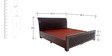Maaz Queen Bed with Storage in Wenge Colour by Looking Good Furniture