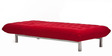 Madison L-Shaped Sofa Bed in Red Colour  by Furny