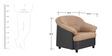 Madisson One Seater Sofa in Beige Colour by Furnitech