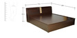 Magna King Bed with Hydraulic Storage in Walnut Finish by HomeTown