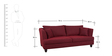 Maharaja Superb Three Seater Sofa in Maroon Colour by Furny
