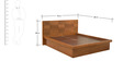 Marbella Queen Bed with Box Storage in Cherry Finish by Casacraft