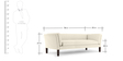 Marc Three Seater sofa in Cream Colour by Furny