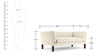 Marc Two Seater sofa in Cream Colour by Furny