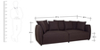 Marcelo (3 + 2) Seater Sofa Set in Java Brown Colour by CasaCraft
