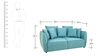 Marcelo Two Seater Sofa in Sapphire Blue Colour by CasaCraft