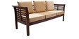 Mariana Teak Wood Sofa Set (3 + 1 + 1) Seater in Fresh Walnut Finish by Finesse