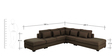 Marie Sectional Sofa in Brown Colour by Madesos