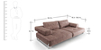 Marisela Two Seater Sofa in Brown Colour by CasaCraft