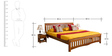 Marko Queen Bed in Honey Colour by Evok
