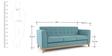 Maxim Three Seater Sofa in Aqua Colour by Madesos