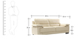 Maximus Leatherette Collection -Three Seater in Cream Coloure by Furny