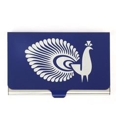 Mad(e) In India MOM Navy Blue Steel 200 GMS Peacock Visiting Card Holder