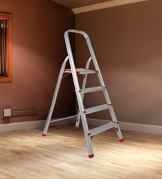 Magna Aluminium 4 Steps 4.9 FT Light Weight High Strength Ladder