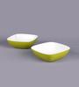 Machi Arena Green Melamine 300 ML Snack Bowl - Set Of 4