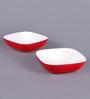 Machi Arena Red Melamine 300 ML Snack Bowl - Set Of 4