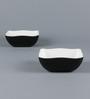 Machi Black Melamine 300 ML Designer Snack Bowl - Set of 4