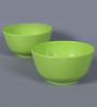 Machi Green Melamine 450 ML Soup Bowl - Set of 4