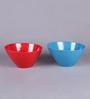 Machi Multicolour Melamine 1.2 L Serving Bowl - Set Of 2