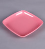 Machi Munchies Pink Melamine Square Snack Plate - Set Of 6