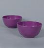 Machi Purple Melamine 450 ML Soup Bowls - Set of 4