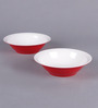 Machi Red Melamine Snack Serving Bowl - Set Of 4