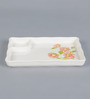 Machi Tango Melamine Snack Mate With Partition Plate - Set Of 4