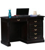 Brockway Study Table in Passion Mahogany Finish by Amberville