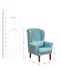 Macy Wing Chair in Blue Colour by Forzza
