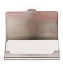 Mad(e) in India Lotus Stainless Steel Red Visiting Card Holder