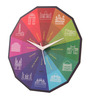 Mad(e) In India Multicolor MDF 11 x 11 Inch Indian Monuments Wall Clock