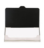 Mad(e) in India Om Stainless Steel Black Visiting Card Holder