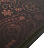 Mad(e) in India Brown MDF Paisley 3.5x3.5 INCH Coaster - Set of 4