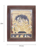 Madhurya Multicolour Gold Plated Krishna Darbar Framed Tanjore Painting