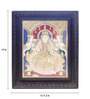 Madhurya Multicolour Gold Plated 15.5 X 2 X 18.5 Gajalakshmi Framed Tanjore Painting
