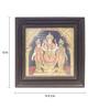 Madhurya Multicolour Gold Plated Rama Laxman Sita Framed Tanjore Painting