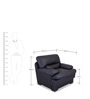 Madison One Seater Sofa in Eerie Black Colour by Durian